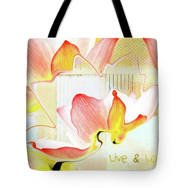 Tote Bag featuring the photograph Live N Love - Absf44b by Variance Collections