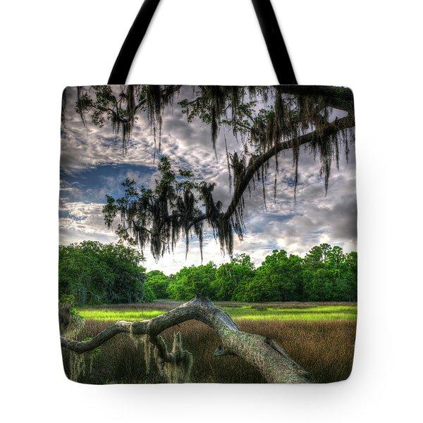Live Oak Marsh View Tote Bag