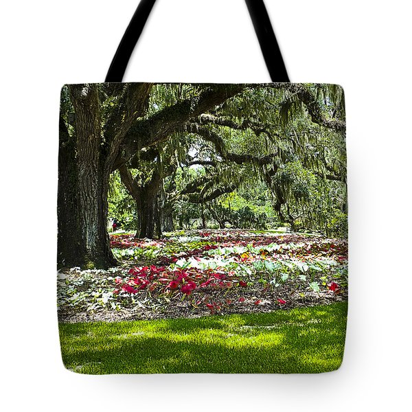 Tote Bag featuring the photograph Live Oaks At Brookgreen Gardens by Bill Barber