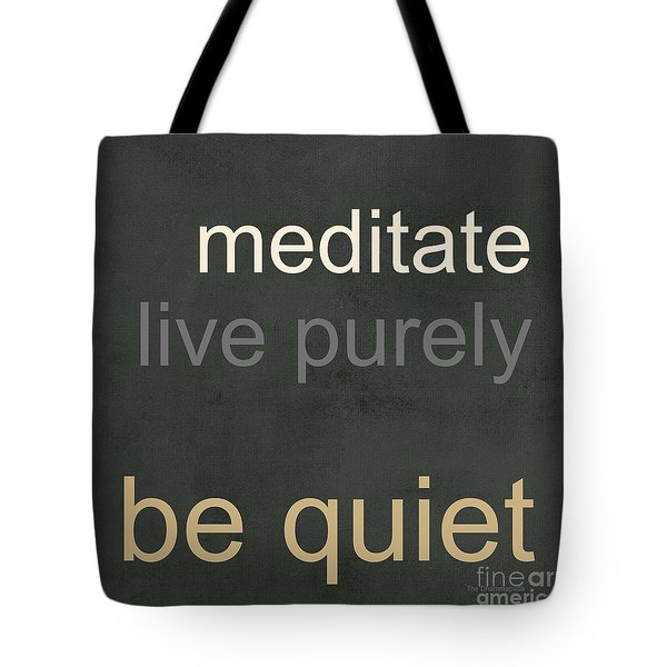 Live Purely Tote Bag
