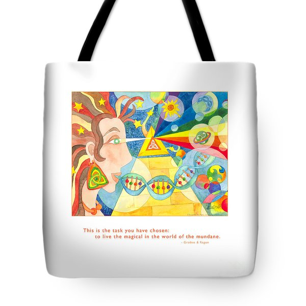 Tote Bag featuring the painting Live The Magical by Kristen Fox