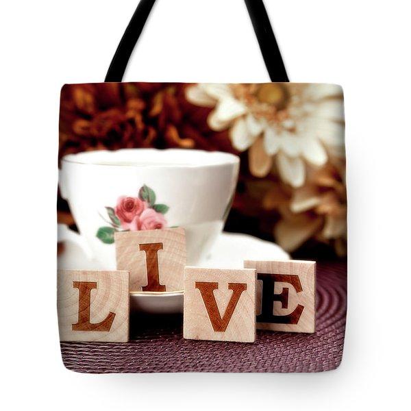 Live Tote Bag by Tom Mc Nemar