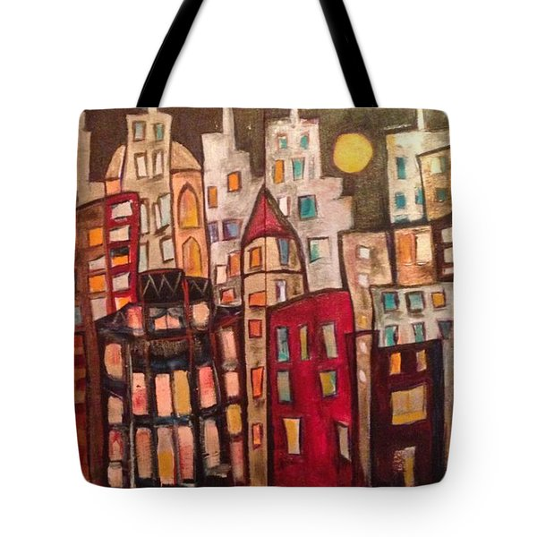 Lively City Skyline Tote Bag