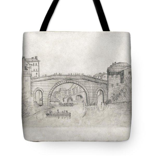 Liverpool Bridge Tote Bag