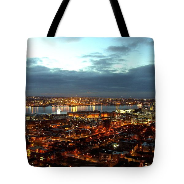 Liverpool City And River Mersey Tote Bag
