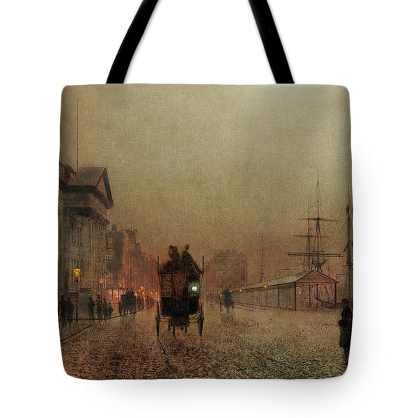 Liverpool Docks By Moonlight Tote Bag