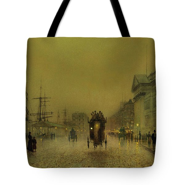 Liverpool Lights, Salthouse  Tote Bag