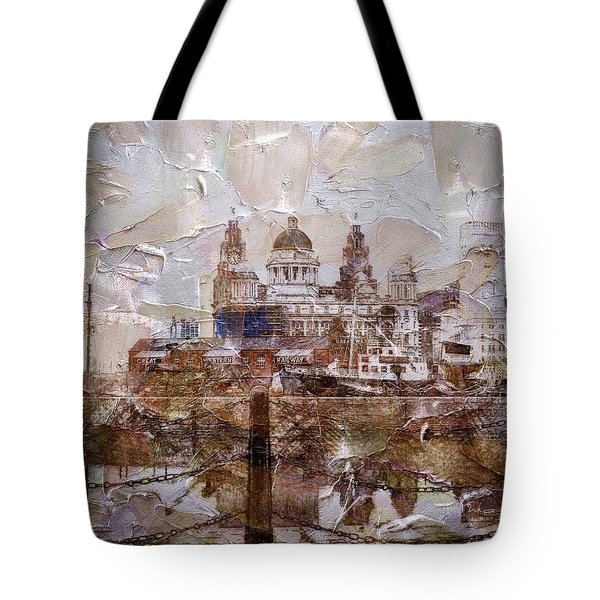 Tote Bag featuring the painting Liverpool by Mark Taylor