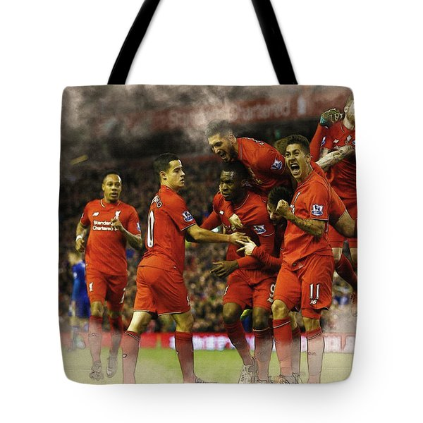 Liverpool V Leicester City Tote Bag