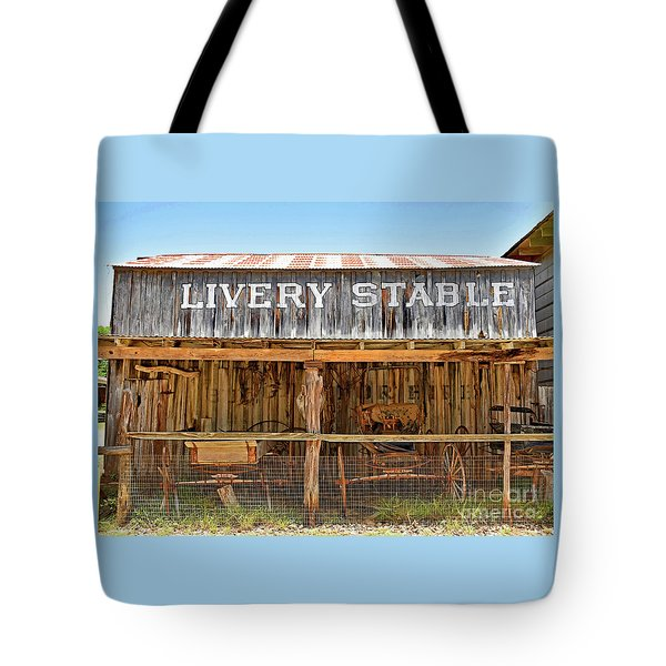 Livery Stable Tote Bag by Ray Shrewsberry