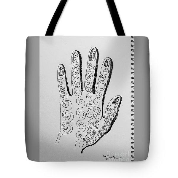 Lives Between The Fingertips Tote Bag