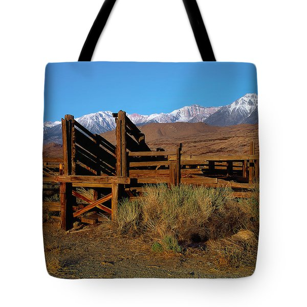 Livestock Chute Tote Bag