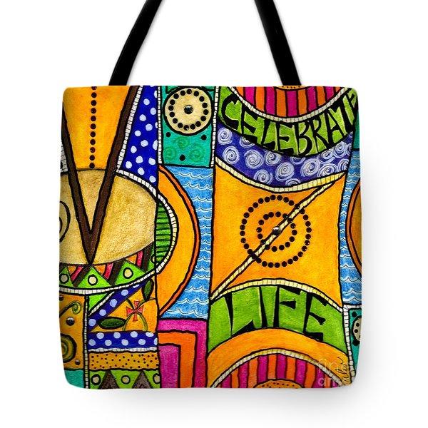 Living A Vibrant Life Tote Bag by Angela L Walker
