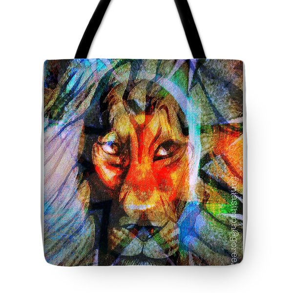 Living Among Lions Tote Bag by Fania Simon