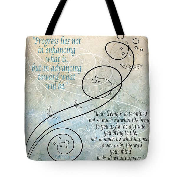 Tote Bag featuring the digital art Living by Angelina Vick