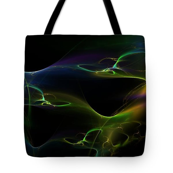 Tote Bag featuring the digital art Living Colors by Greg Moores