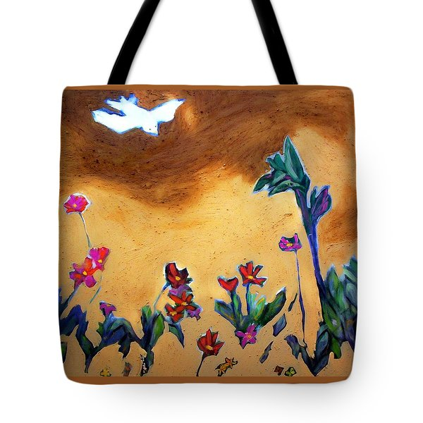 Tote Bag featuring the painting Living Earth by Winsome Gunning