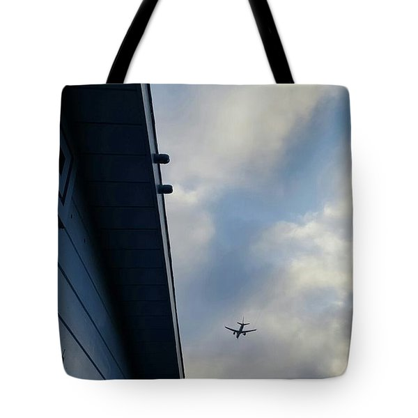 Living In The Landing Zone  Tote Bag