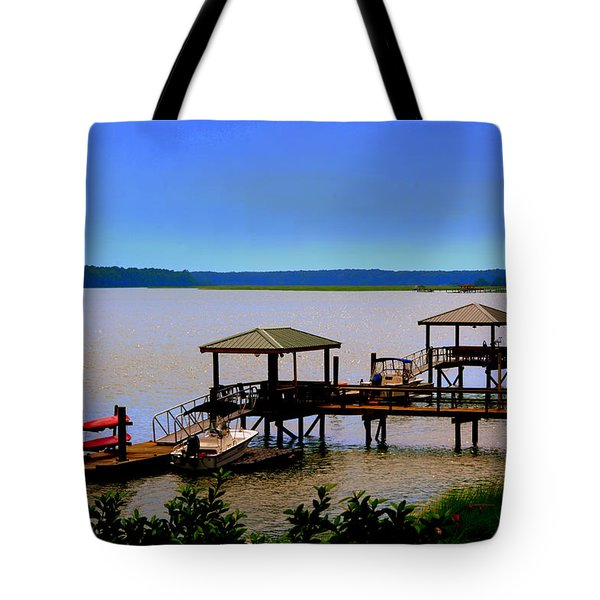 Living In The Lowcountry Tote Bag