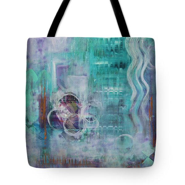 Tote Bag featuring the painting Living In The Mystery by Jocelyn Friis