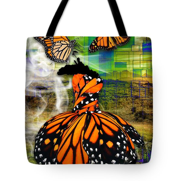 Tote Bag featuring the mixed media Living One's Destiny by Marvin Blaine