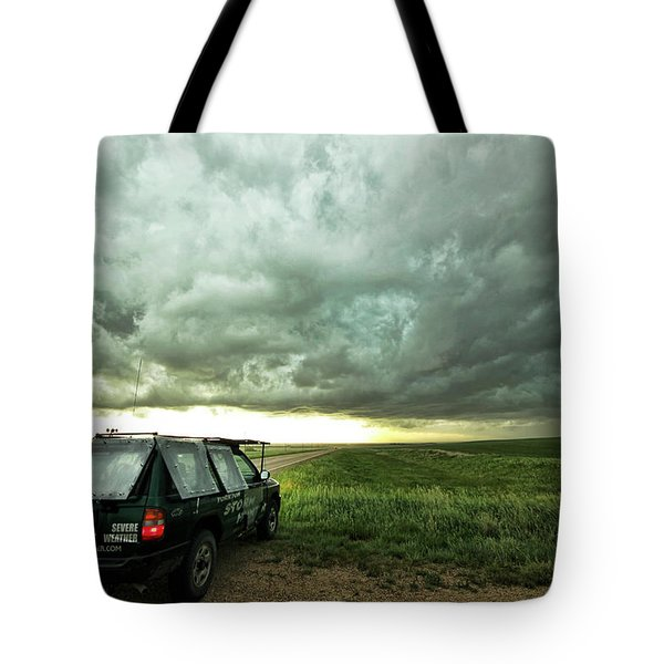 Living Saskatchewan Sky Tote Bag by Ryan Crouse