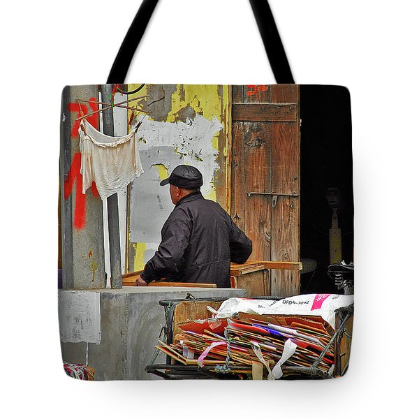 Living The Old Shanghai Life Tote Bag by Christine Till