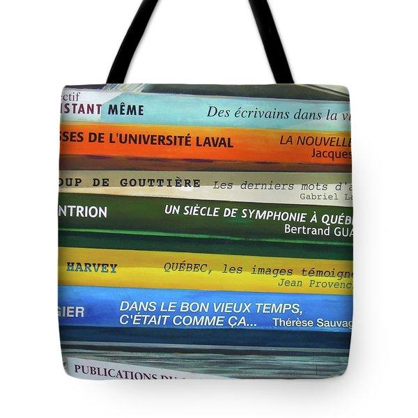 Livres ... Tote Bag