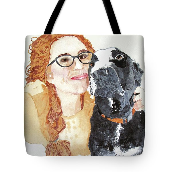 Livvy And Amos Tote Bag by Sandy McIntire