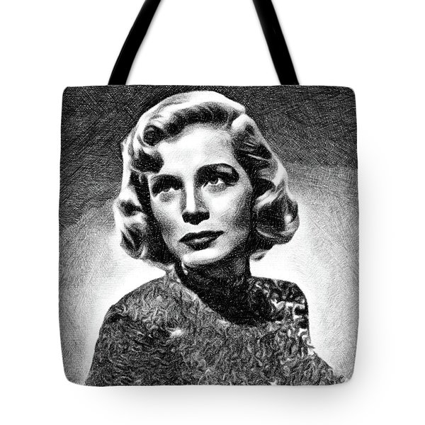 Lizabeth Scott, Vintage Actress By Js Tote Bag