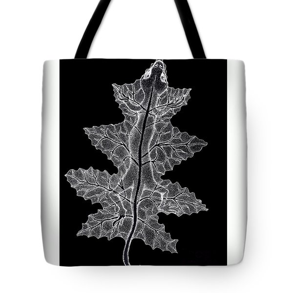 Lizard And Leaf Tote Bag by Nick Gustafson