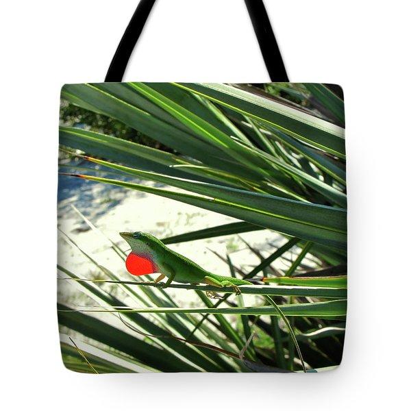 Lizard In Love Tote Bag by Peg Urban