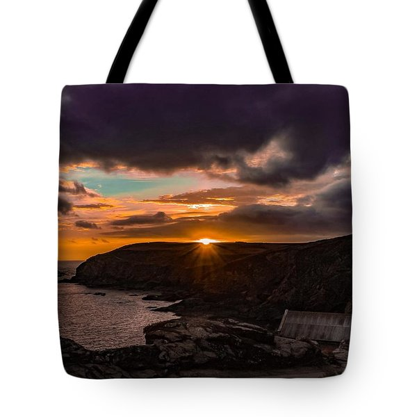 Lizard Point Sunset  Tote Bag