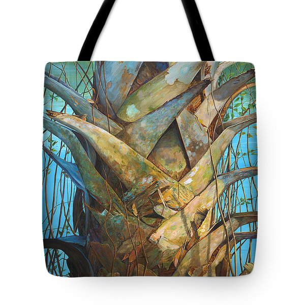 Tote Bag featuring the painting Lizards And Boots by AnnaJo Vahle