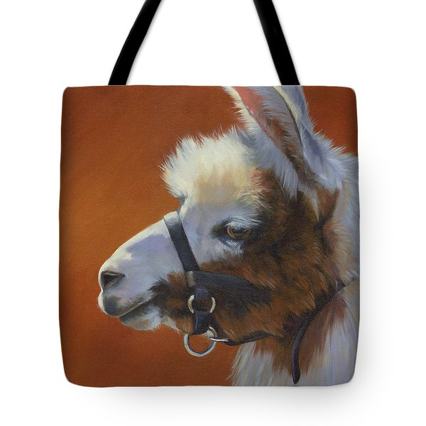 Tote Bag featuring the painting Llama Love by Alecia Underhill
