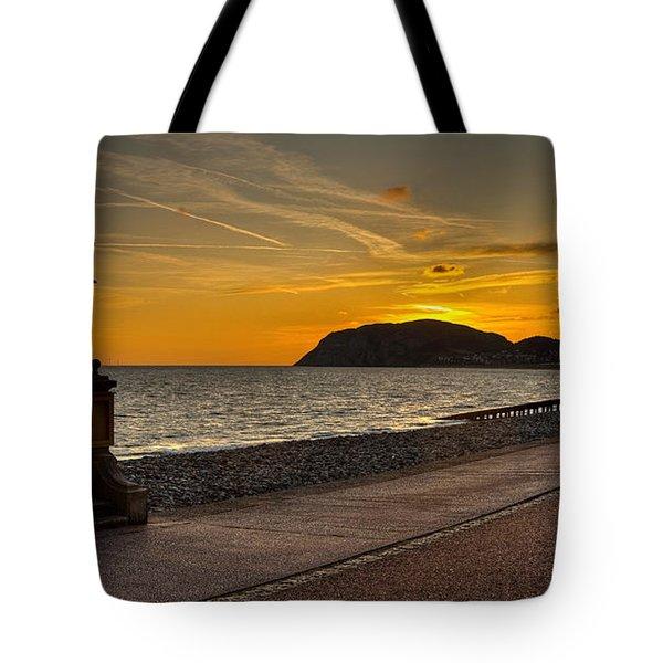 Llandudno Promenade And Little Orme Tote Bag