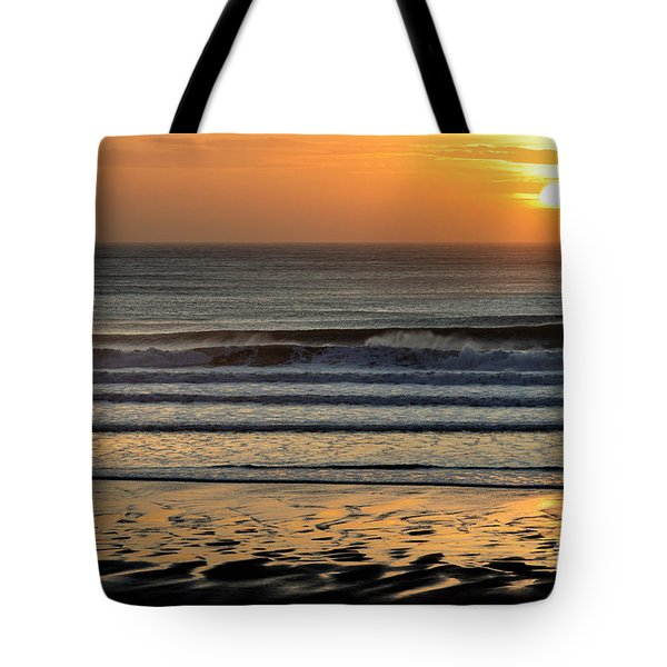 Llangennith Gold Reflections Tote Bag