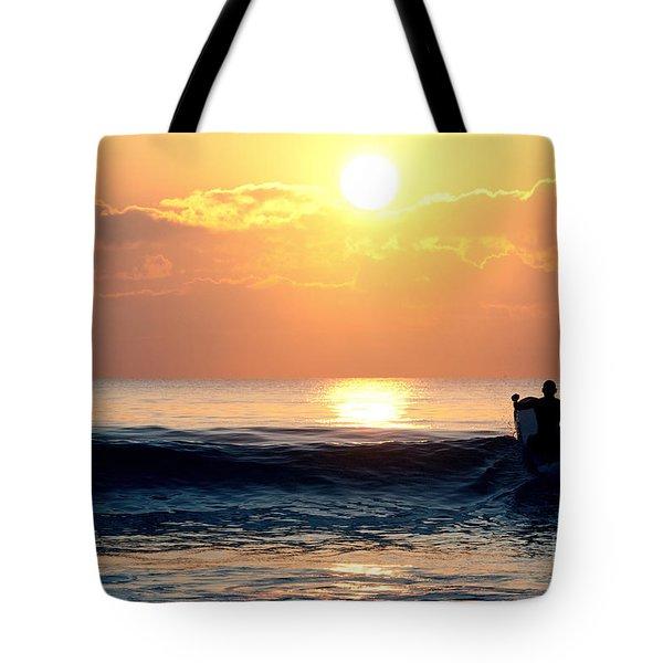 Llangennith Last Wave Tote Bag