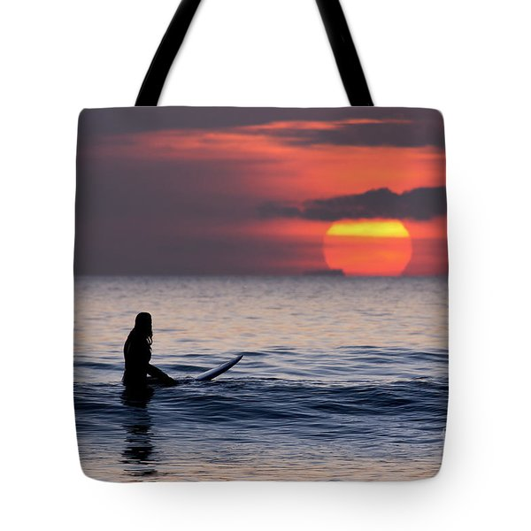 Llangennith One More Wave Tote Bag