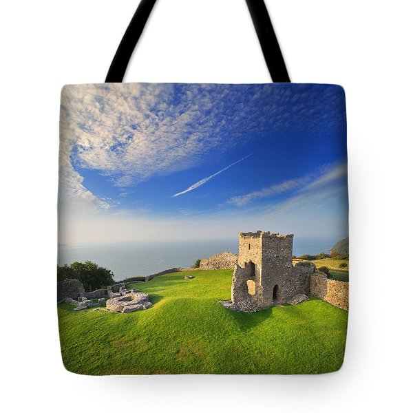 Llansteffan Castle 2 Tote Bag