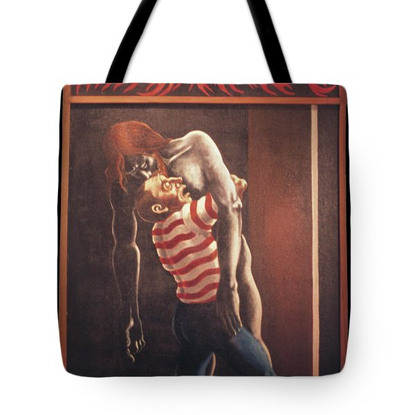 Tote Bag featuring the painting Llego' Con Tres Heridas by William Hart McNichols