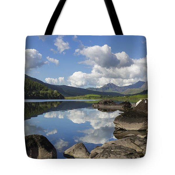Llyn Mymbyr And Snowdon Panorama Tote Bag