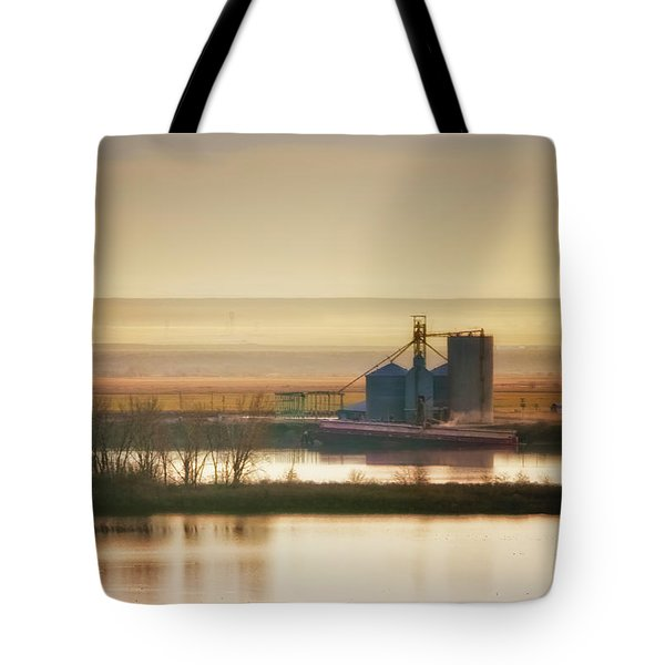 Tote Bag featuring the photograph Loading Grain by Albert Seger