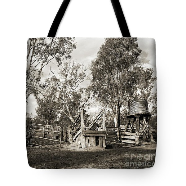 Tote Bag featuring the photograph Loading Ramp by Linda Lees