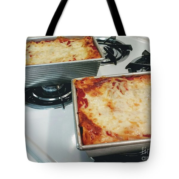 Tote Bag featuring the photograph Loaf Pan Lasagna 1 by Andee Design