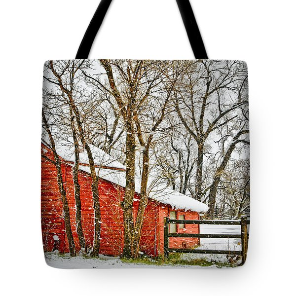 Loafing Shed Tote Bag by Marilyn Hunt