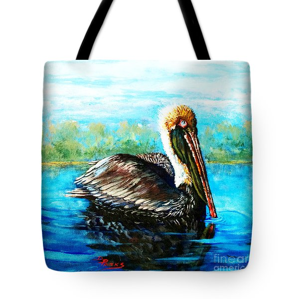 Tote Bag featuring the painting L'observateur by Dianne Parks