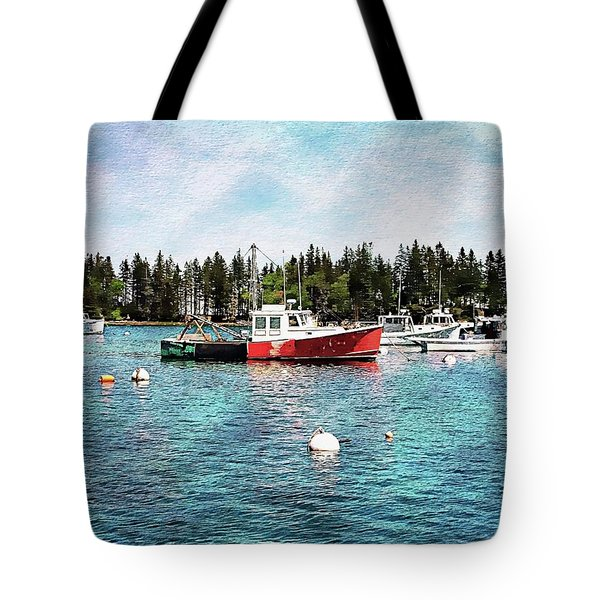 Tote Bag featuring the digital art Lobster By Night - Sleep By Day - Camden Maine by Joseph Hendrix