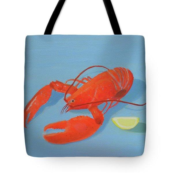 Lobster And Lemon Tote Bag