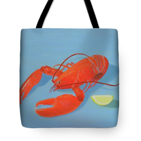 Lobster And Lemon Tote Bag